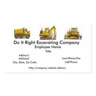 Highway Dump Truck Business Cards
