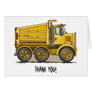 Highway Dump Truck Greeting Card