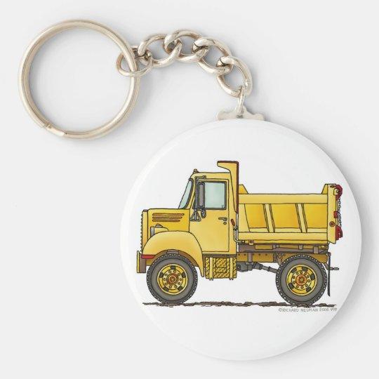 Highway Dump Truck Construction Key Chains