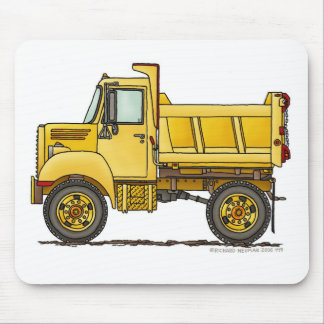 Highway Dump Truck Construction Mouse Pad