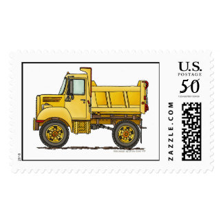 Highway Dump Truck Construction Stamps