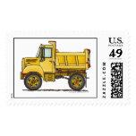 Highway Dump Truck Construction Stamps