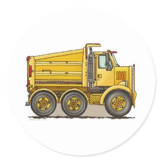 Highway Dump Truck Kids Sticker