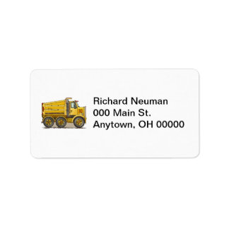 Highway Dump Truck Label