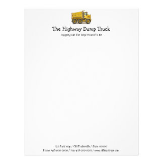 Highway Dump Truck Letterhead