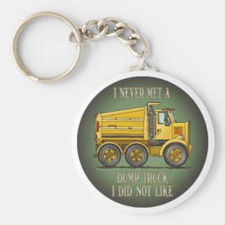 Highway Dump Truck Operator Quote Key Chain