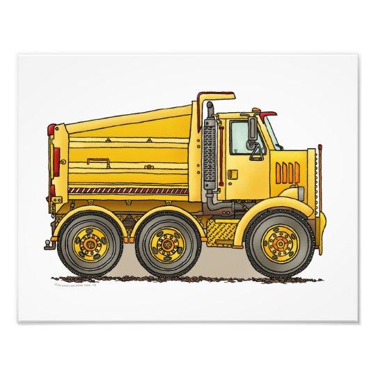 Highway Dump Truck Photo Print