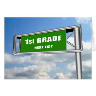 Highway Exit Sign Graduation 1st Grade Next Card