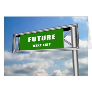 Highway Exit Sign Graduation Future Next Card