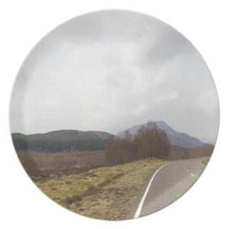 Highway in Scottish Highlands Dinner Plate