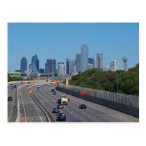Highway into Dallas Postcard