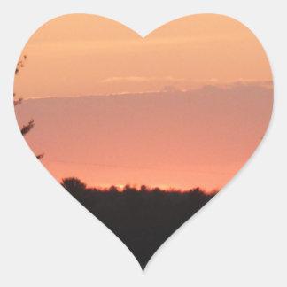 Highway natural sunset heart sticker