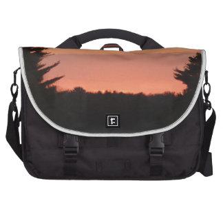 Highway natural sunset laptop computer bag