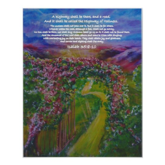 Highway of Holiness Prophetic Art by Andrea Riley Poster