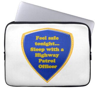 Highway Patrol Officer Laptop Sleeve