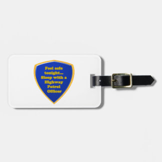 Highway Patrol Officer Luggage Tag