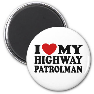 Highway Patrolman 2 Inch Round Magnet
