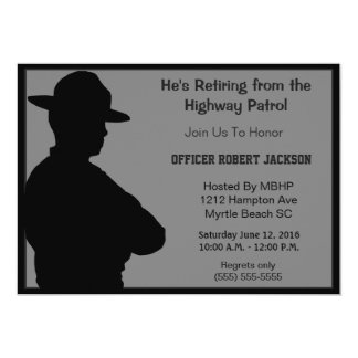 Highway Patrolman Retirement Invitation