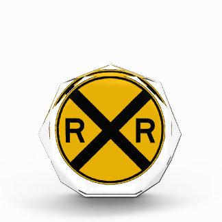 Highway-Rail Crossing, Traffic Warning Sign, USA Acrylic Award
