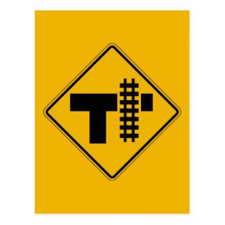 Highway-Rail Grade Crossing 1, Traffic Sign, USA Postcard