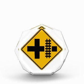 Highway-Rail Grade Crossing 2, Traffic Sign, USA Acrylic Award