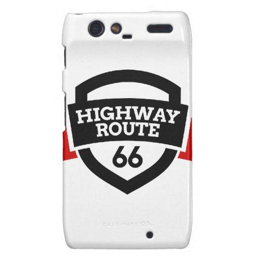 Highway_Route_66 Droid RAZR Carcasa