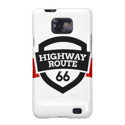 Highway_Route_66 Samsung Galaxy S2 Fundas