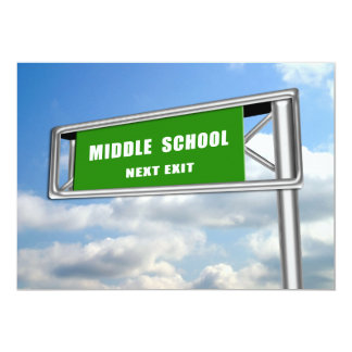 Highway Sign Graduation Middle School Next Card