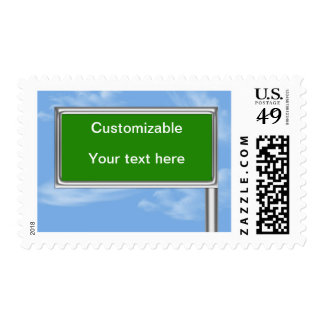 Highway Sign Greeting - Customizable Postage