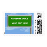 Highway Sign Greeting - Customizable Stamps