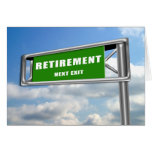 Highway Sign Retirement Greeting Card
