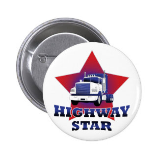 Highway Star Trucker 2 Inch Round Button