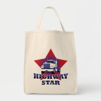 Highway Star Trucker Grocery Tote Bag