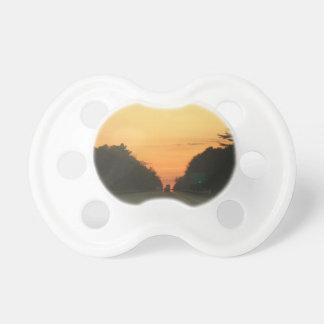 Highway sunset vanishing point pacifier