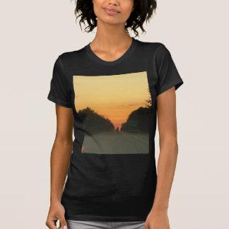 Highway sunset vanishing point T-Shirt