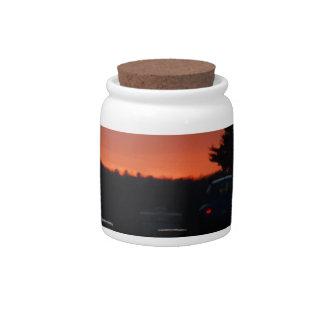 Highway Sunset Vivid Candy Jars