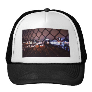 Highway Themed, A City Highway Is Viewed Through A Trucker Hat