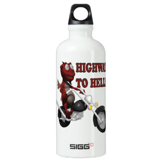 Highway To Hell Aluminum Water Bottle