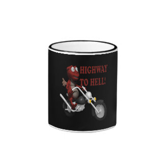 Highway To Hell Ringer Coffee Mug