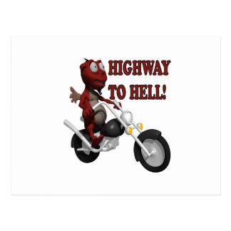 Highway To Hell Postcard