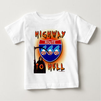 Highway To Hell Route 666 - Round Baby T-Shirt