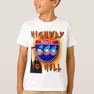 Highway To Hell Route 666 - Round T-Shirt