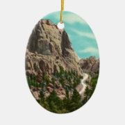Highway to Mt. Rushmore Ornament