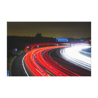 Highway traffic lights canvas print