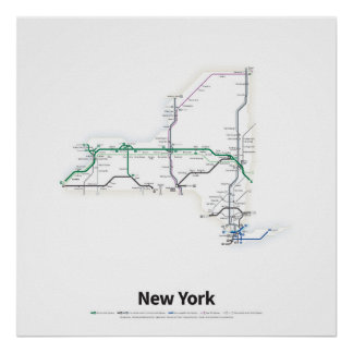 Highways of the USA - New York Poster