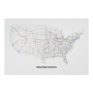 Highways of the USA Poster