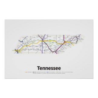 Highways of the USA - Tennessee Poster