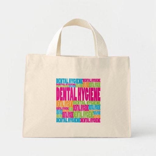 Higiene dental colorida bolsa tela pequeña