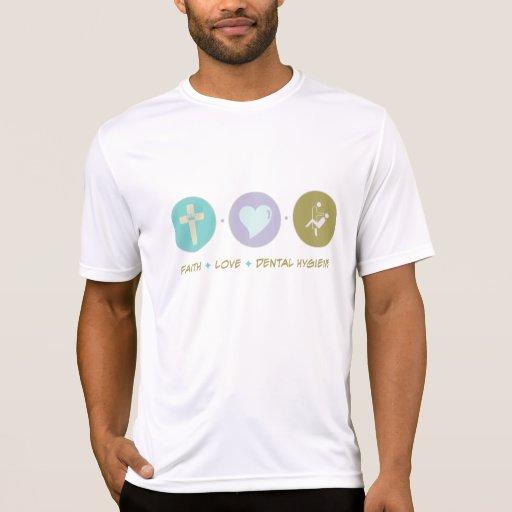 Higiene dental del amor de la fe camisetas