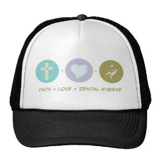 Higiene dental del amor de la fe gorras